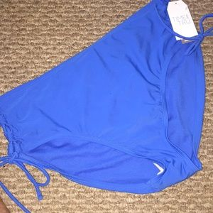 Time & Tru Lace-Up Electric Blue Swim Bottom 1X
